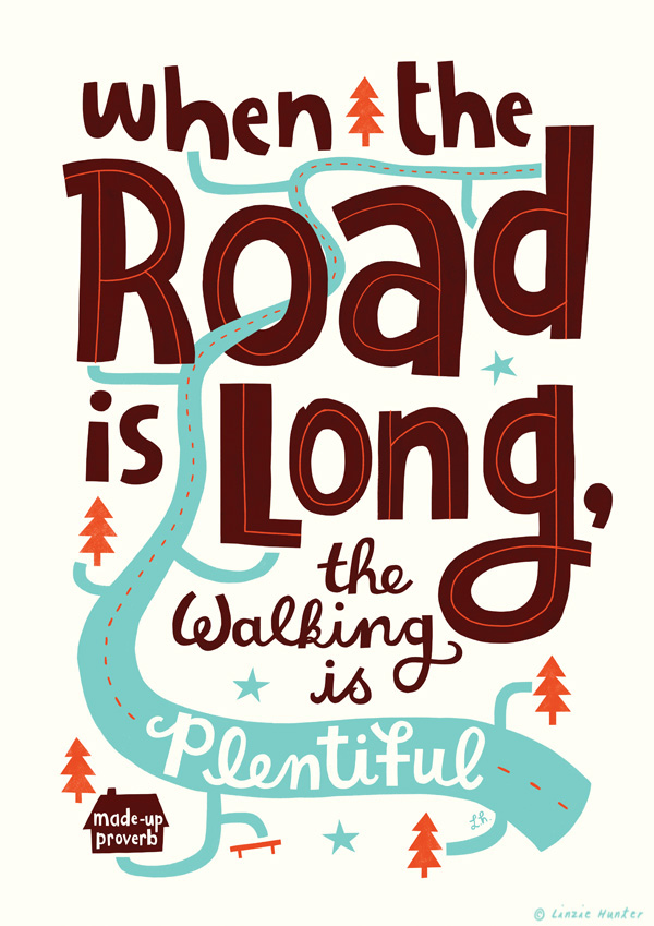 Uninspiring poster by Linzie Hunter - When Road is Long