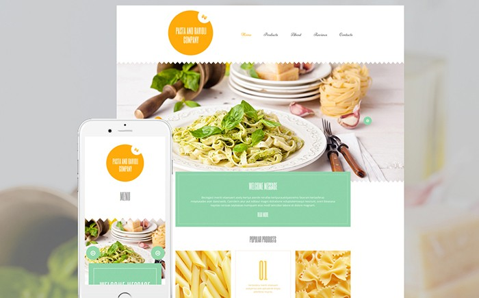 Beverages WordPress Template