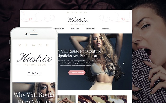Kustrix - Fashion Blog Magazine WordPress Theme