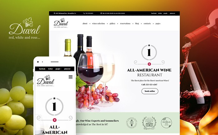 Wine & Winery WordPress Theme