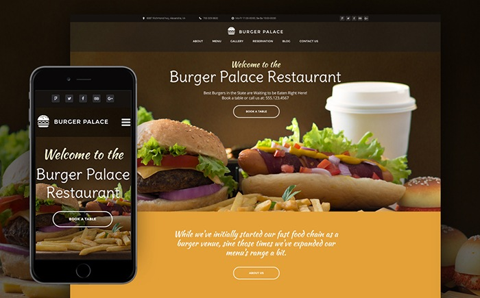 d Restaurant WP Theme
