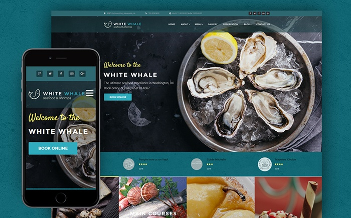 ale - Seafood Restaurant WordPress Theme