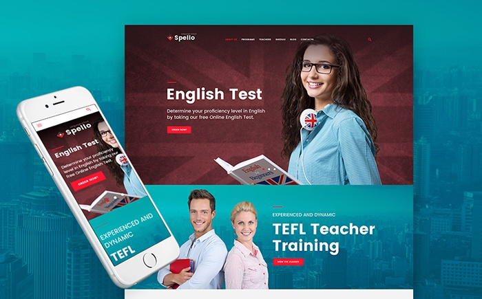 Spello - Language School WordPress Theme