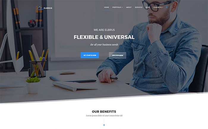 Elbrus - Business & Marketing Multipurpose WordPress Theme