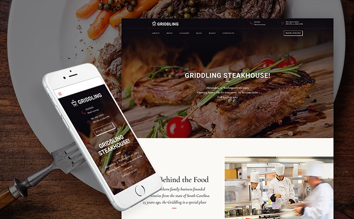 p; Barbecue Restaurant WordPress Theme