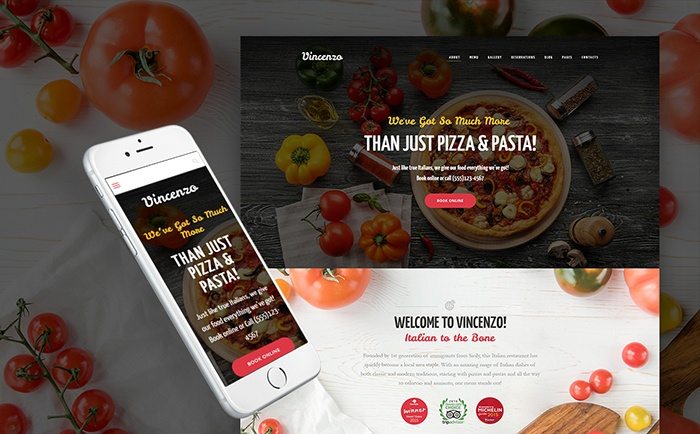 - Feature-Rich Pizza Restaurant