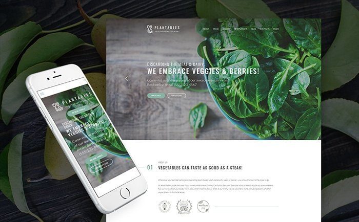 an Restaurant WordPress Theme