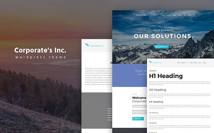 Corporate's Inc WordPress Theme