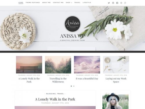 anissa feminine wordpress blogging theme