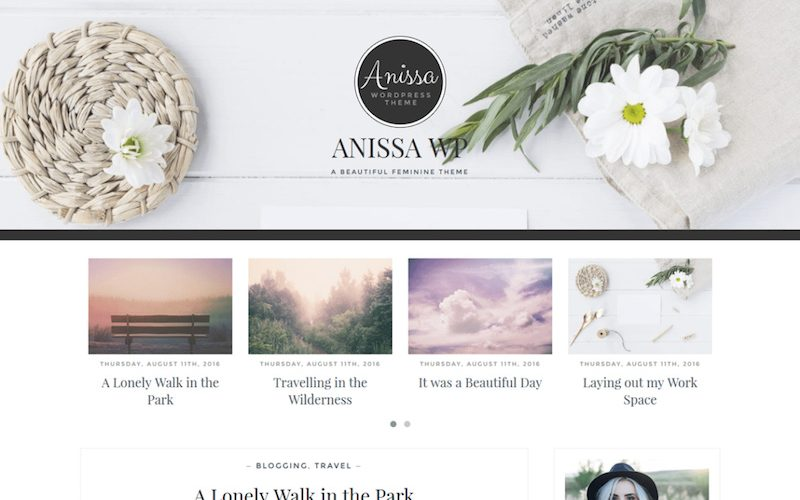 15 Feminine WordPress Themes for Women Entrepreneurs & Bloggers