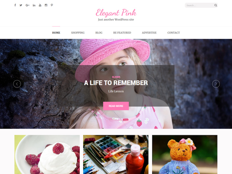 Elegant Pink - Free Girly WordPress Theme