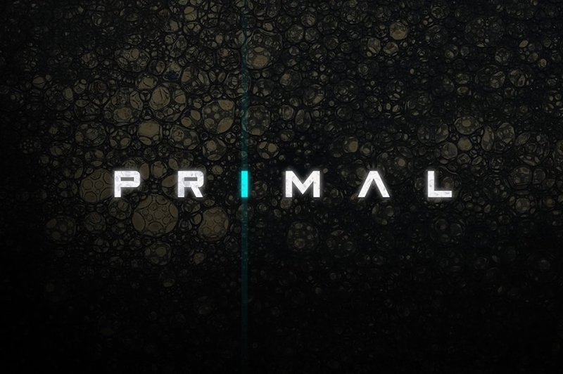 Primal - Old Horror Science Fiction Movies Inspired Font