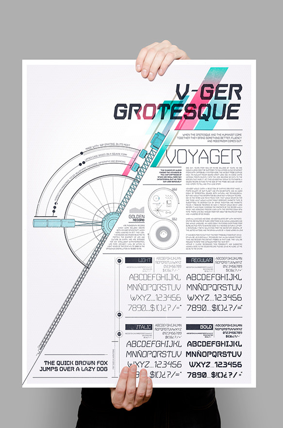 Vger Grotesque - 1980's sci-fi movies inspired typeface