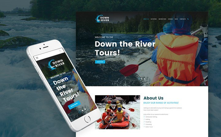 Rafting and Paddling WordPress Theme
