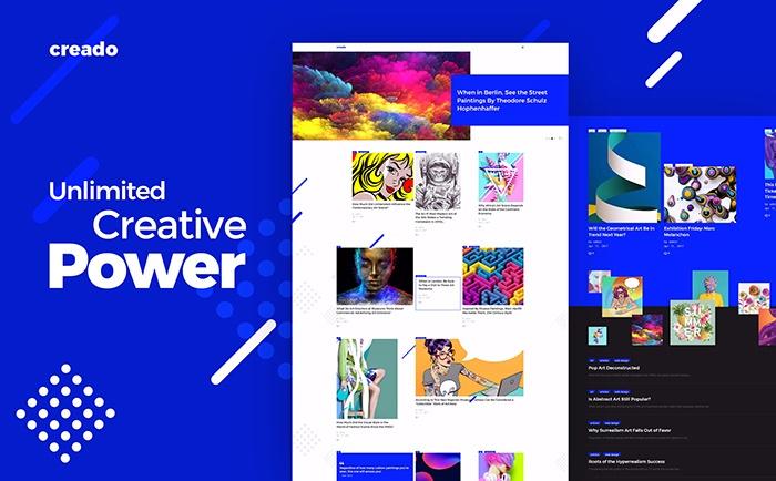 Creado - Art Gallery Responsive WordPress Theme