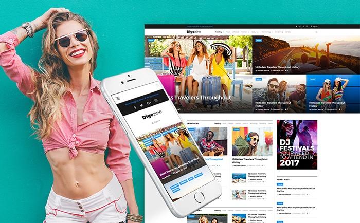 Digezine - Fashionable Magazine WordPress Theme