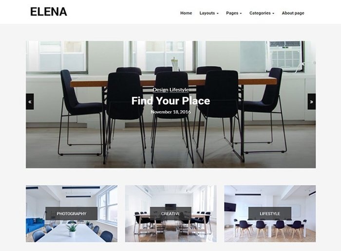 Elena - blog WordPress Theme