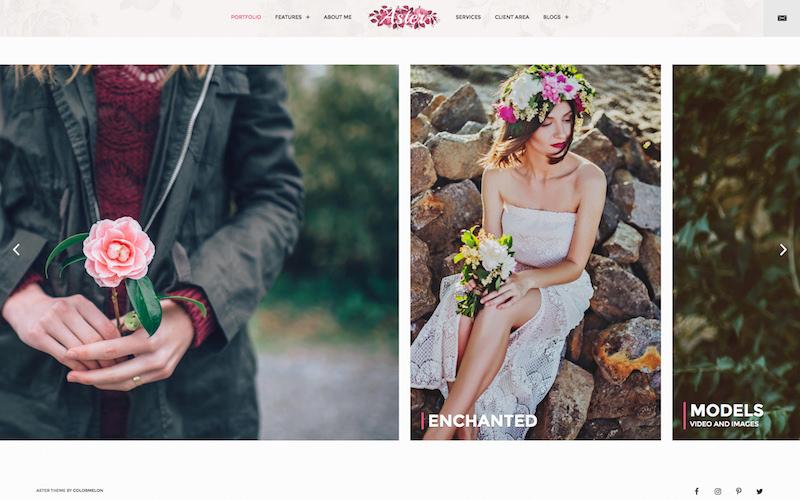 Aster - Premium Feminine Photography Theme