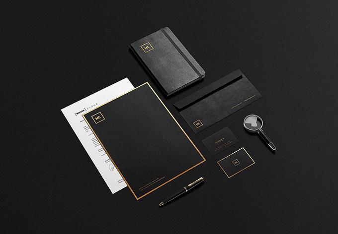 Black Gold Branding PSD Mockups