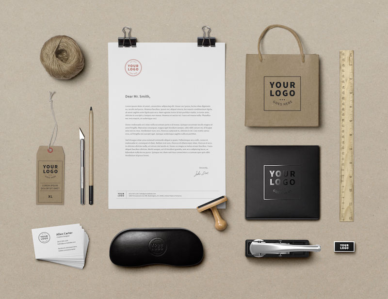 Branding mockup for hand made product business