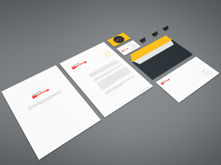 15 free branding mockups psd with stationery items - graphicflip, Powerpoint templates