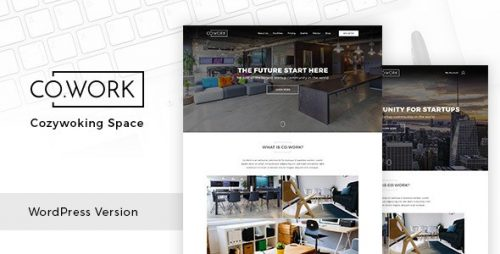 cowork open office creative space wordpress theme
