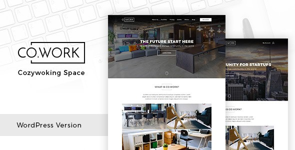 CoWork - Open Office & Creative Space WordPress Theme