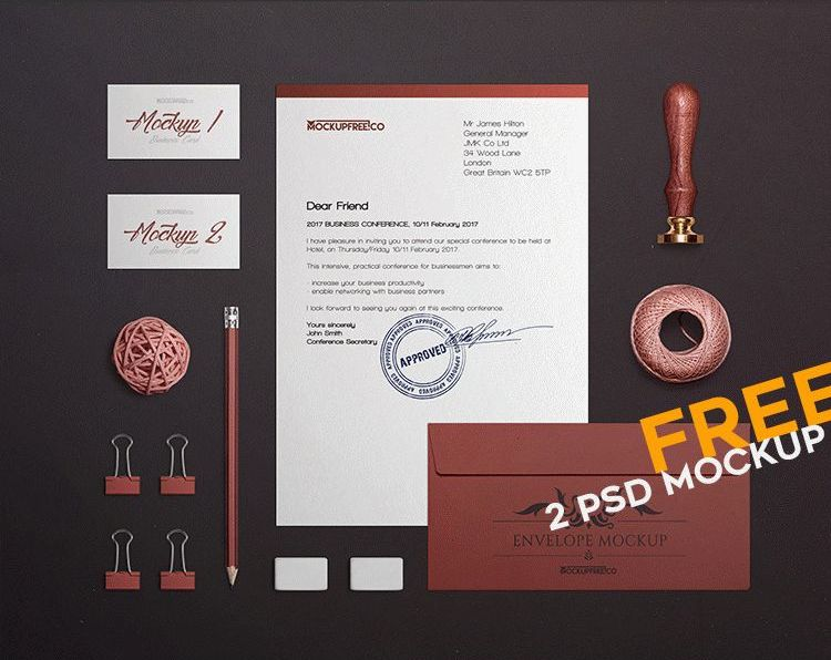 Craft related stationery mockup