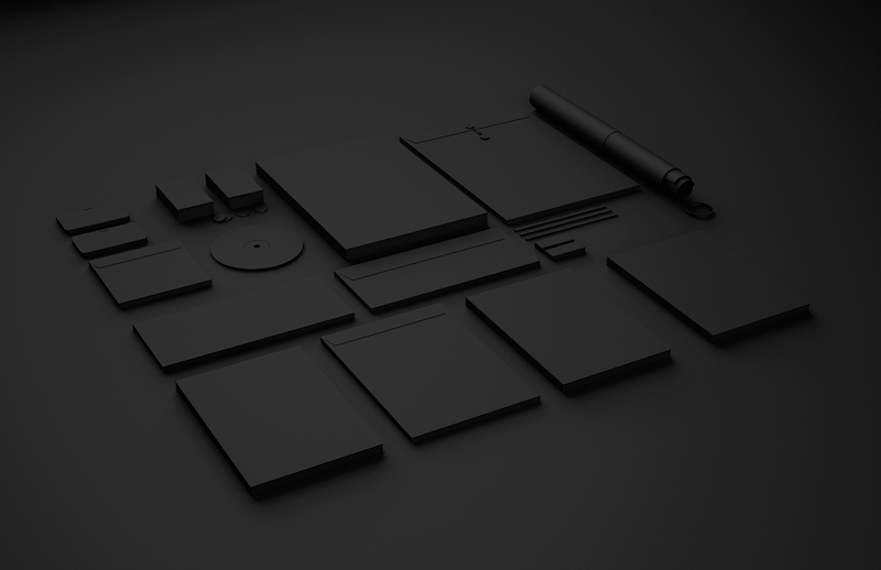 Clean Identity Mockup Template Pack - Free