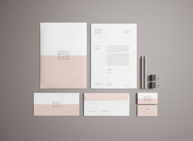 15 free branding mockups psd with stationery items graphicflip. Black Bedroom Furniture Sets. Home Design Ideas