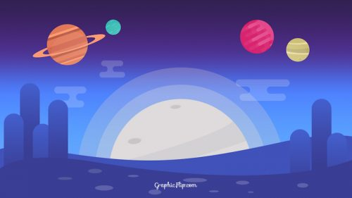 Free Flat Space Background