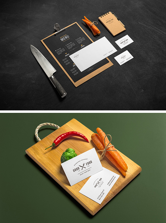 Branding Mockup PSD for Restaurants & Bar