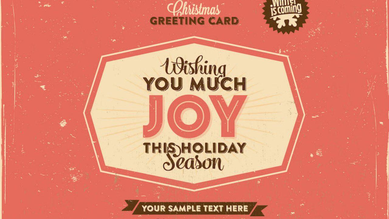 Christmas Greeting card Retro-style Camping UNUSED+ENV
