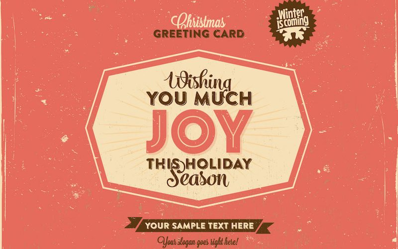 Free Download: Retro Christmas Greeting Card Template (EPS & SVG)