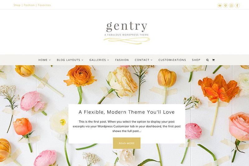 Gentry - Modern & Flexible Feminine WordPress Theme