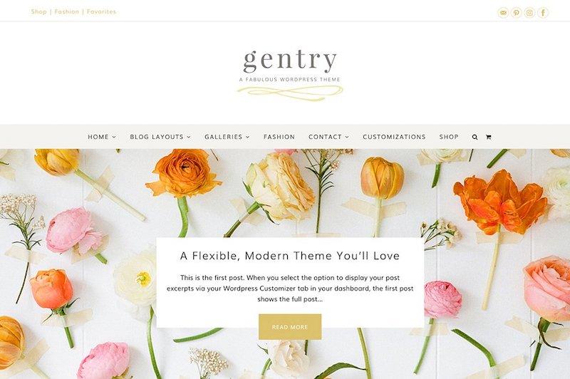 Gentry - Modern & Flexible Feminine WordPress Theme