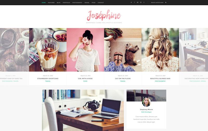 Josephine - Premium WordPress theme for Lifestyle Bloggers
