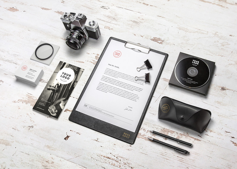 Free PSD Mockup for Photography Branding Showcase