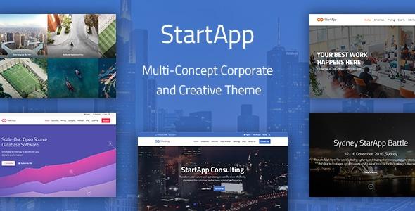 StartApp - Multi-Concept Corporate And Creative Theme