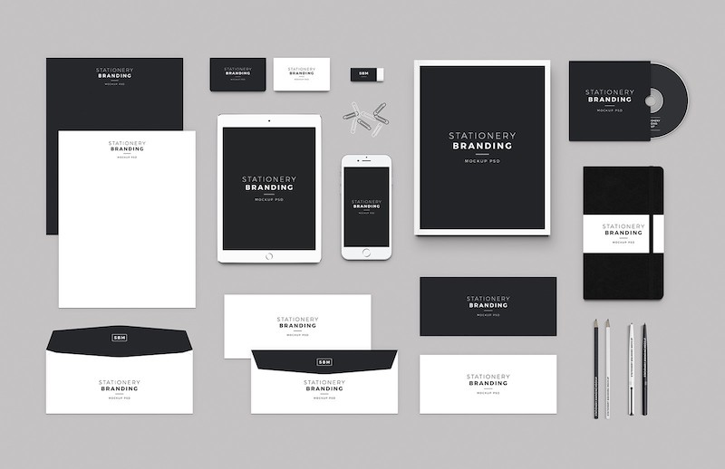 Stationery Branding Mock-up PSD