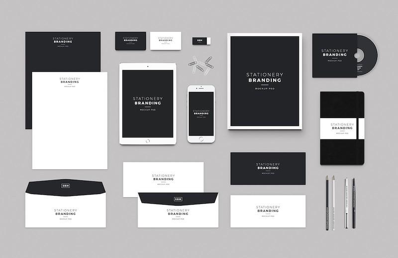 Stationery Branding Mock-up PSD