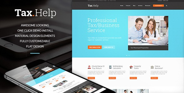 Tax Help | Finance & Accounting WordPress Theme