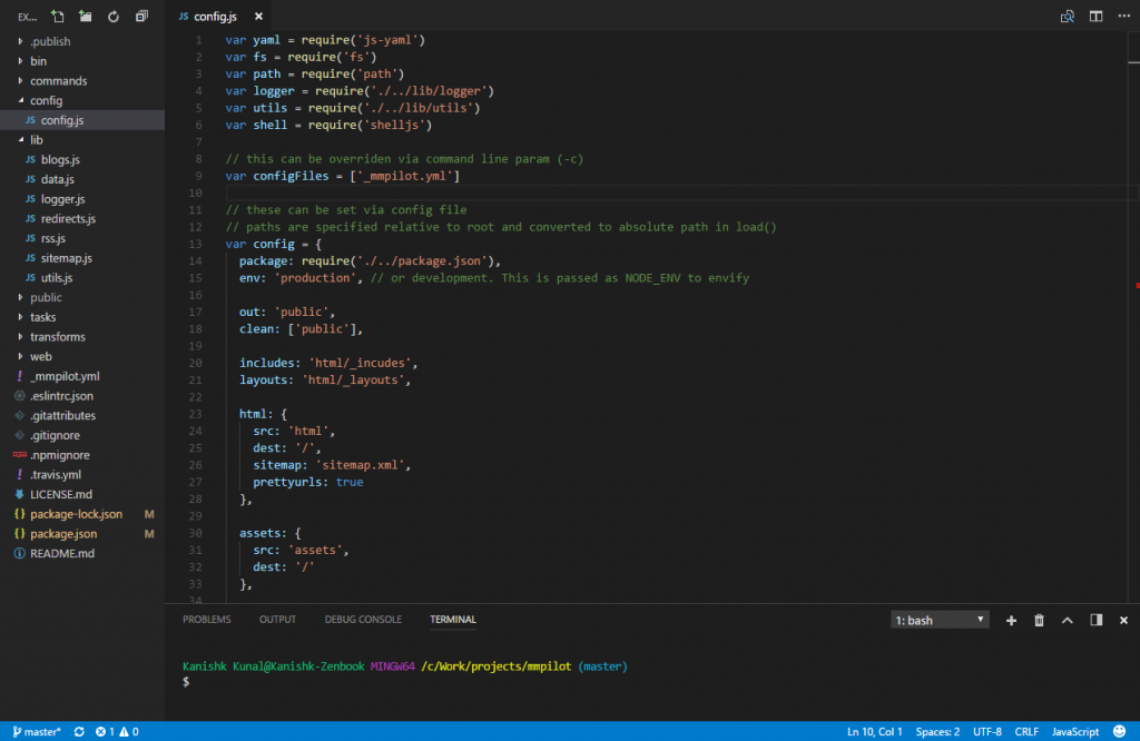 vscode default dark theme