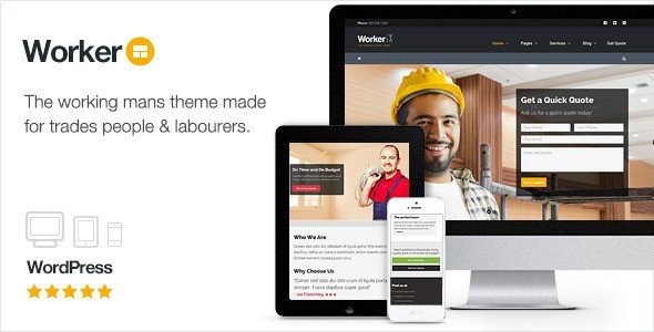 Worker - The Working Mans WordPress Theme