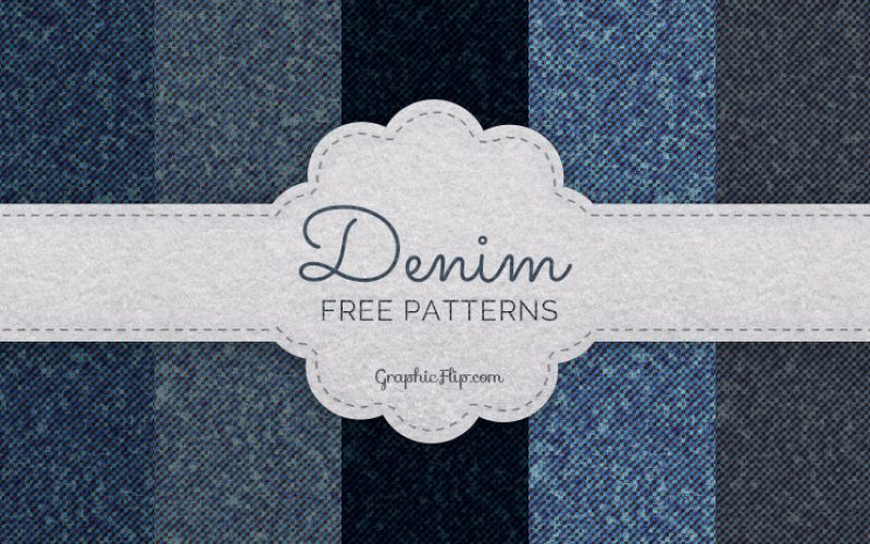 Free Seamless Denim Texture Patterns (PAT & JPG)