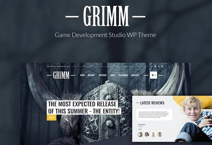 GRIMM - Game Development Studio WordPress Theme