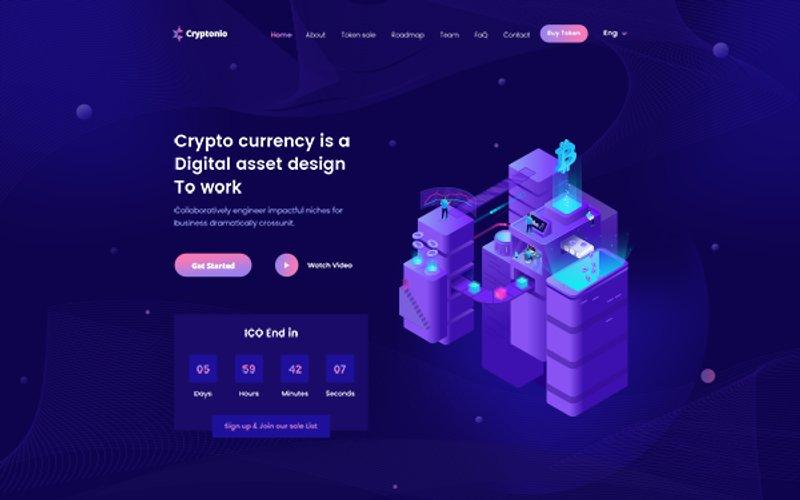 Cryptonio Cryptocurrency HTML Template
