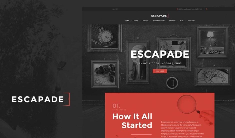 Escapade - Escape Room Responsive WordPress Theme