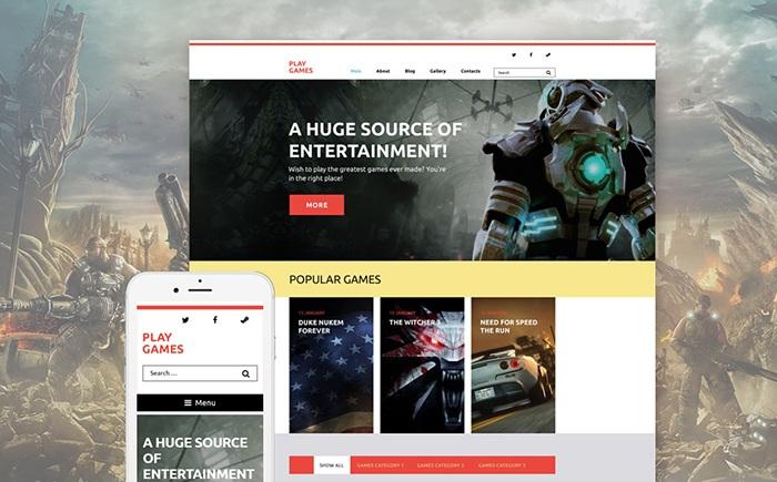 Games WordPress Template