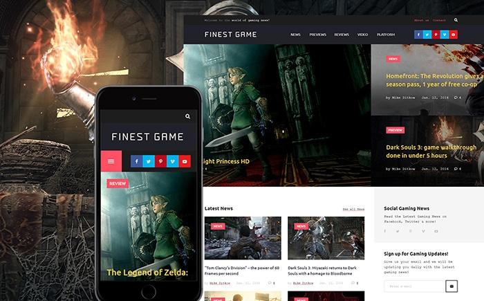 Online Games WordPress Theme
